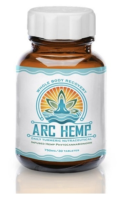 Arc Hemp Tablets | Daily Turmeric 750mg