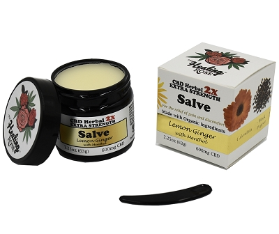 The Healing Rose Salve | Lemon Ginger w/ Menthol 600mg