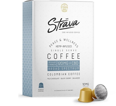 Strava CBD Coffee | 10mg CBD Hemp Infused Nespresso Pods