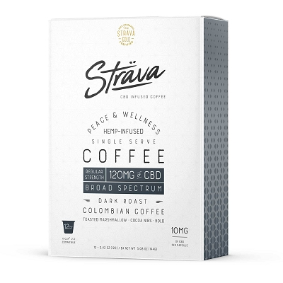 Strava CBD Coffee | 10mg CBD Hemp Infused K-Cups