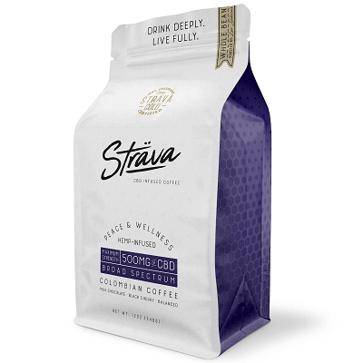 Strava CBD Coffee | 500mg CBD Hemp Infused Medium Roast