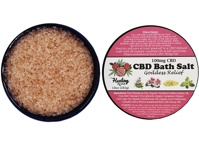 The Healing Rose Bath Soak | Goddess Relief 200mg