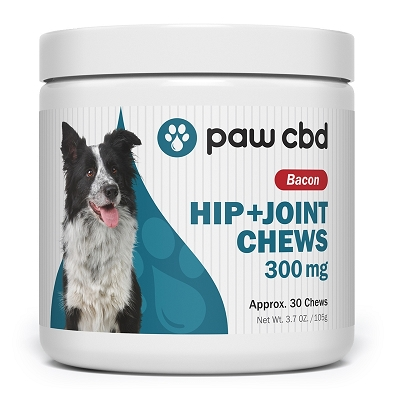 Paw CBD Hip + Joint Chews | Bacon 300mg