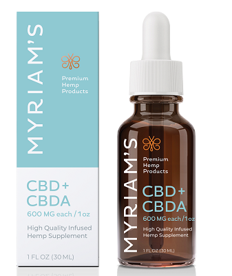 600mg CBDA: 600mg CBD Oil| Myriam's Hope 1200mg Bottle