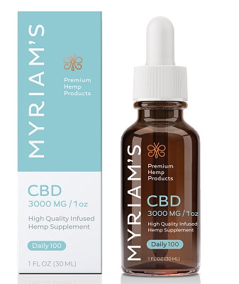 Daily Dose 100mg CBD | Myriam's Hope 3000mg Bottle