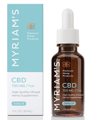 Daily Dose 25mg CBD | Myriam's Hope 750mg Bottle (THC-Free)