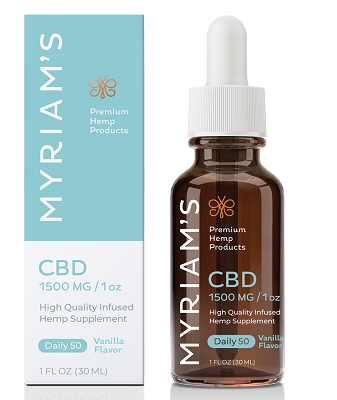 Daily Dose 50mg CBD | Myriam's Hope 1500mg Bottle